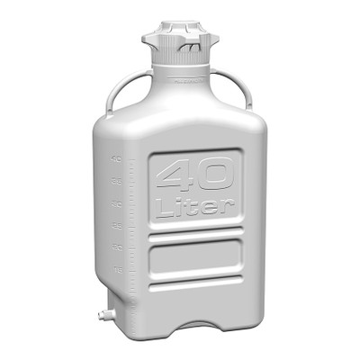 EZgrip Carboy, HDPE, 40 liter with 120mm VersaCap and Spigot