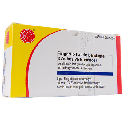 """Finger Tip Bandage, 1"""" x 3"""" First Aid Kit Refill, case/50"""