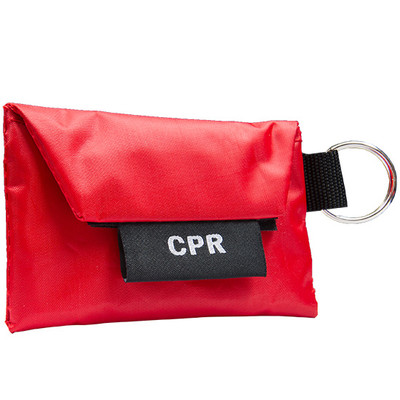 Mini Carrying case, Key Ring, CPR Barrier & Vinyl Gloves First Aid Kit, case/100