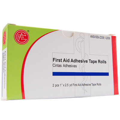 """Adhesive Tape, 1"""" x 2.5 yd First Aid Kit Refill, case/100"""
