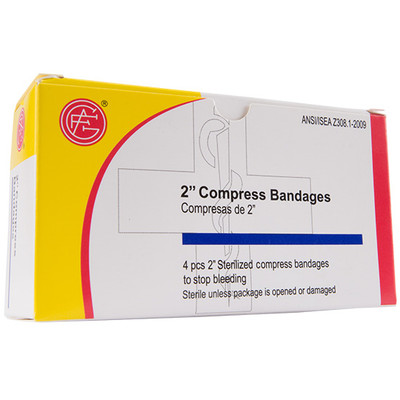 "Compression Bandage, 2"" First Aid Kit Refill, case/100"