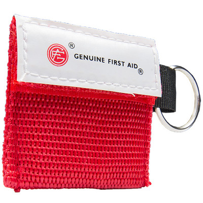 Mini Carrying case with Key Ring & CPR Barrier First Aid Kit, case/100