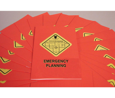 Safety Training: Emergency Planning Booklet, pack/15