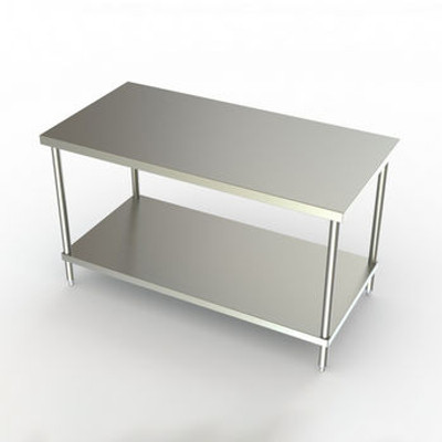 Flat top version shown, without the spill-catching V-edge. Order from catalog series 2TG rather than 1TG to receive the flat-top version of this table.