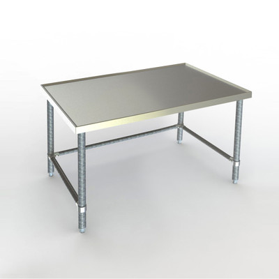"""This Aerospec version features recessed top and V-edges to contain spills. Shown 30""""  x 48"""""""