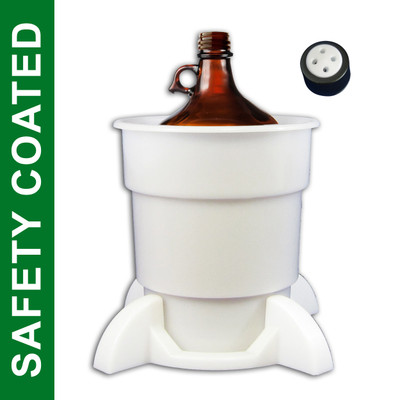 Port Cap System, 4L Coated Glass Bottle, 38mm Cap, Secondary Container