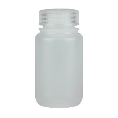 Certified Clean 4 oz Wide Mouth Sample Bottles with Screw Caps, HDPE, Nalgene, case/48