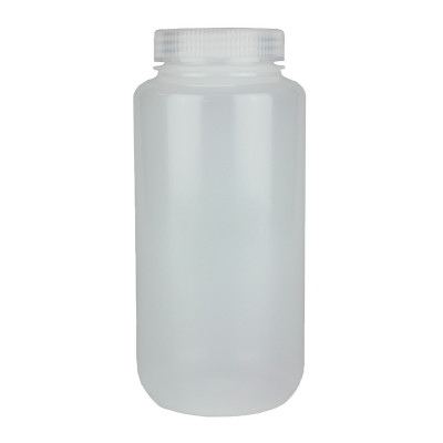 Certified Clean 32 oz Wide Mouth Sample Bottles with Screw Caps, HDPE, Nalgene, case/12