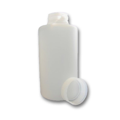 Certified Clean 2 Liter Wide Mouth Sample Bottles with Screw Caps, HDPE, case/8
