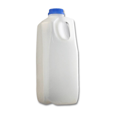 64 oz (2 liter) Plastic Dairy Jug/ Juice Containers, Square, HDPE, case/40