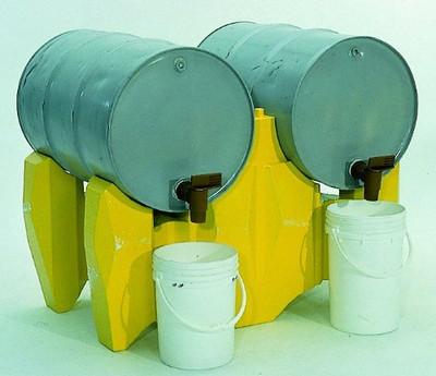 Horizontal Drum Dispensing Support Rack, Yellow Poly