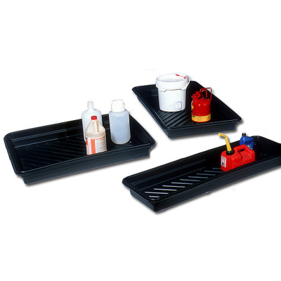"Large Plastic Utility Spill Tray, 24"" x 48"""