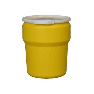 Eagle® 10 Gallon, Plastic Lever-Lock, Lab Pack Plastic Barrel Drum, Yellow