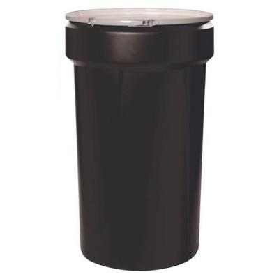 "Eagle® 55 Gallon, 1x2"" 1x3/4"" Bung Holes, Lab Pack Open Head Plastic Barrel Drum, Black"