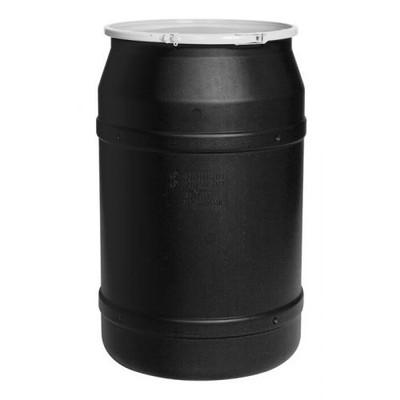 Eagle® 55 Gallon, Plastic Lever-Lock, Lab Plastic Barrel Drum, Black