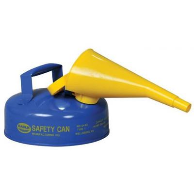 Eagle® 2 Quart Steel Safety Can For Kerosene, Type I, Flame Arrester, Blue