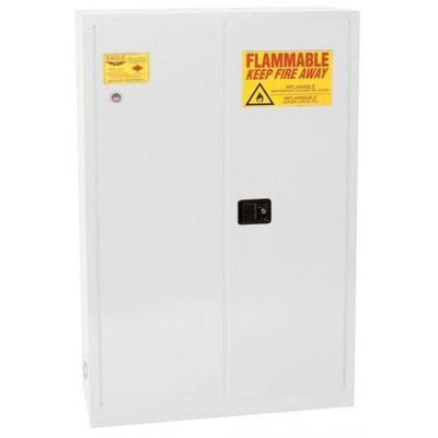 Eagle® 60 Gallon, 5 Shelves, 2 Doors, Manual Close, Paint Safety Cabinet, White