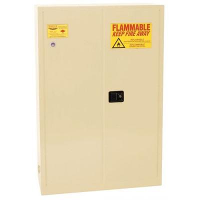 Eagle® 60 Gallon, 5 Shelves, 2 Doors, Sliding Self Close, Paint Safety Cabinet, Beige