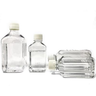 1000mL PETG Square Media Bottles, Sterile, case/50