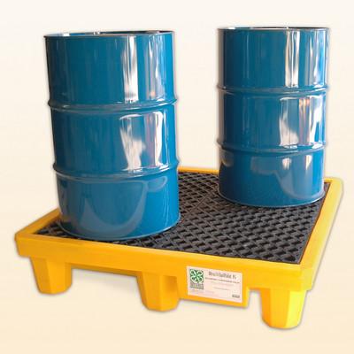 Spill Pallet P4, No Drain, Yellow