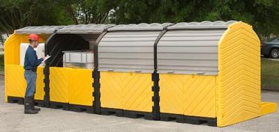 Modular IBC Spill Pallet: 4-Tank, Outdoor Model