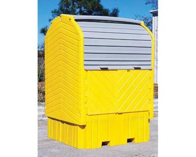 IBC Hard Top Storage Shed, Choose Drain