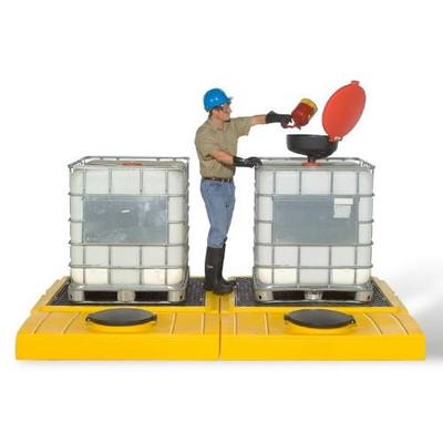 Bulkhead Fittings (2) for Modular IBC Spill Pallet