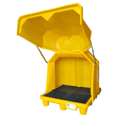 Hard Top P4 Spill Pallet with Drain