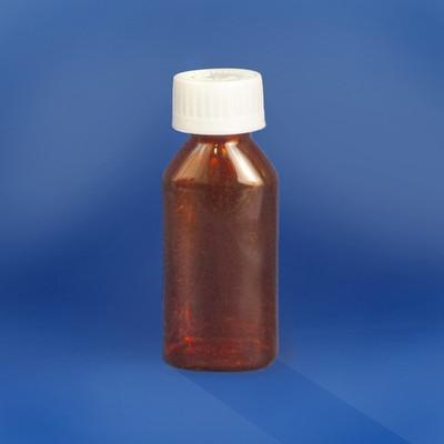 Amber Oval Pharmacy Bottles, Child Resistant Cap, 1 oz, case/100