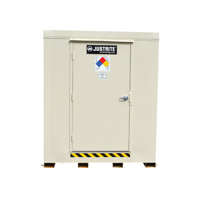 Outdoor Storage Locker, 4 Hour Fire Rated, 16-Drum with Explosion Relief