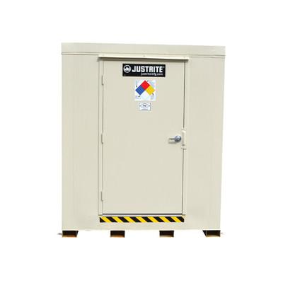 Outdoor Storage Locker, 2 Hour Fire Rated, 9-Drum, Explosion Relief