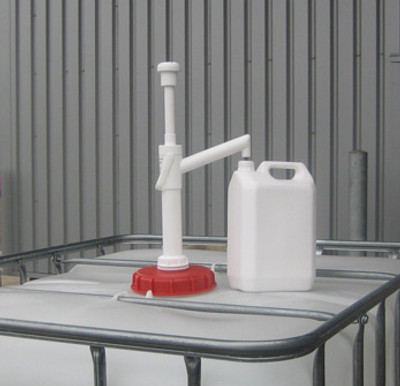 """IBC Tote Drum Pump, PP with 2"""" NPT Adapter, 26 oz/stroke"""