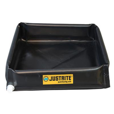 """Justrite® Mini 6"""" Spill Containment Flex Tray Berm, Choose Size"""