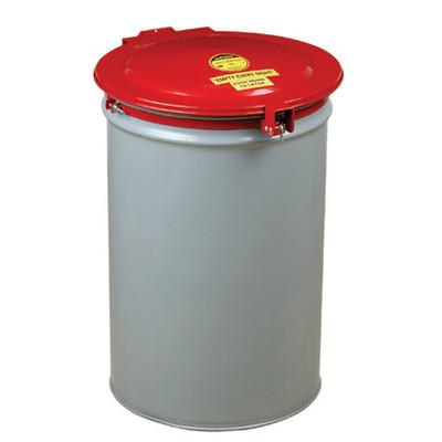 Justrite® Self-Latching Drum Cover, Vent, Gasket for 55-Gal Drum, Steel