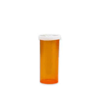 Economy Pharmacy Vials, Amber, Easy Snap-Caps, 16 dram (59mL), case/300
