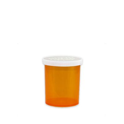 Economy Pharmacy Vials, Amber, Easy Snap-Caps, 20 dram (75mL), case/300