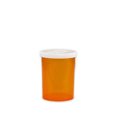 Economy Pharmacy Vials, Amber, Easy Snap-Caps, 30 dram (111mL), case/280