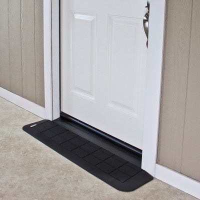 "Threshold Wheelchair Ramp, EZ-Edge, 1"", Choose Single or Double Door"