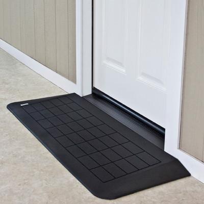 "Threshold Wheelchair Ramp, EZ-Edge, 1-3/4"" High, Single or Double Door"