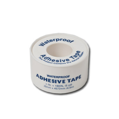 White Adhesive Tape 1 inch x 5 yards, Case/24