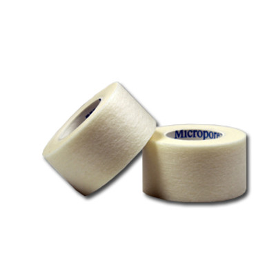 """White Adhesive First-Aid Tape, 1/2"""" x 5 yard, case/144"""