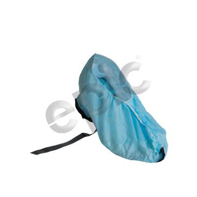 Disposable Polypropylene Shoe Covers, Conductive Strip, Adjustable, Blue, case/300