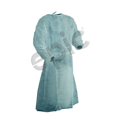 Disposable Medical Examination / Isolation Gown, Polypropylene, Blue, case/50