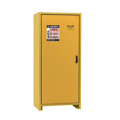 Justrite® EN Flammable Safety Cabinet, 30-Minute Rated, 30 gal, 3 shelf, Yellow