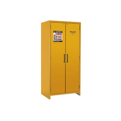 Justrite® EN Flammable Safety Cabinet, 90-Minute Rated, 30 gal, 3 shelf, Yellow