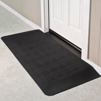 "Threshold Wheelchair Ramp, EZ-Edge, 2 1/4"" High, Single or Double Door"