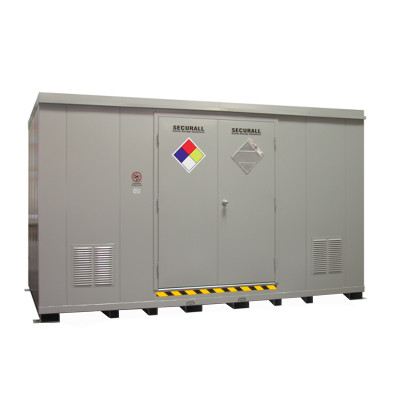 HazMat Drum Storage Building with Optional Fire Rating, 24-Drum
