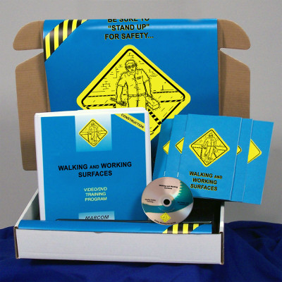 Safety Training: Walking, Working Surfaces in Construction Safety Training Meeting Kit DVD