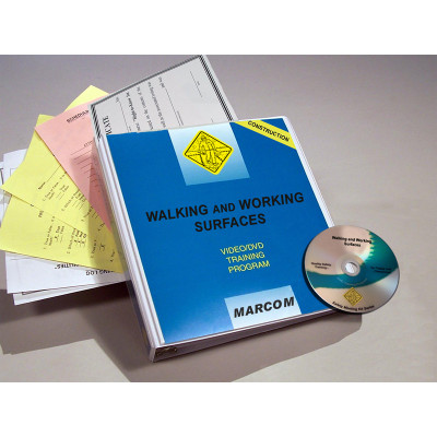 Safety Training: Walking, Working Surfaces in Construction Safety Training DVD