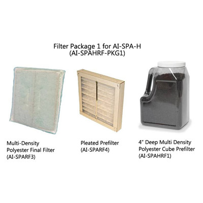 Filter Package for Use with Hair System AI-SPA-H